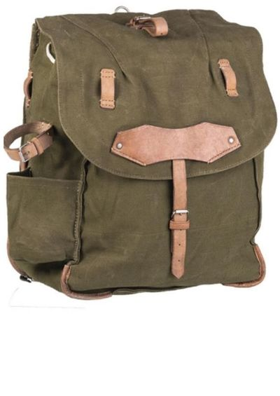 Romanian Army Canvas Leather Vintage Rucksack